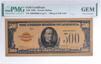 1928 $500 Five Hundred Dollars Commemorative Gold Certificate (PMG Gem Uncirculated) at PristineAuction.com