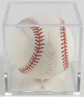 Hank Aaron Signed ONL Baseball With Display Case (Beckett COA & Steiner Hologram) at PristineAuction.com