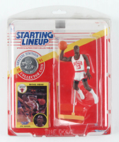 Michael Jordan Bulls Starting Lineup Action Figurine with Sealed Trading Card & Collector Coin at PristineAuction.com