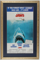 """Jaws"" 16x24 Custom Framed Movie Poster Display at PristineAuction.com"