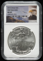 2015 American Silver Eagle $1 One Dollar Coin - First Releases (NGC MS 69) at PristineAuction.com