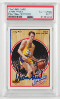Jerry West Signed 1991-92 Upper Deck Jerry West Heroes #3 (PSA Encapsulated) at PristineAuction.com