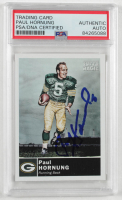 Paul Hornung Signed 2010 Topps Magic #18 (PSA Encapsulated) at PristineAuction.com