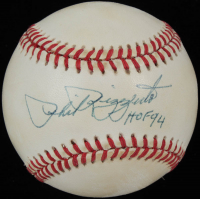 """Phil Rizzuto Signed OAL Baseball Inscribed """"HOF 94"""" (PSA COA) at PristineAuction.com"""