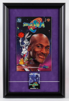 "1996 ""Space Jam"" Issue #1 DC 12x18 Custom Framed Comic Book Display With Pre-Release Movie Pin at PristineAuction.com"