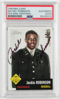 Rachel Robinson Signed 2009 Topps American Heritage Heroes #26 Jackie Robinson (PSA Encapsulated) at PristineAuction.com