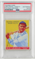 Linda Ruth-Tosetti Signed 1933 Goudey Reprints #53 (PSA Encapsulated) at PristineAuction.com