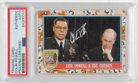 Colin Powell Signed 1991 Desert Storm Topps #158 (PSA Encapsulated) at PristineAuction.com