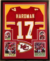 Mecole Hardman Signed 34x42 Custom Framed Jersey (JSA COA) at PristineAuction.com