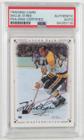 Willie O'Ree Signed 2008-09 UD Masterpieces #73 (PSA Encapsulated) at PristineAuction.com