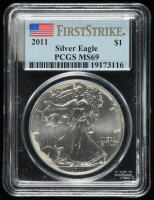 2011 American Silver Eagle $1 One Dollar Coin - First Strike (PCGS MS 69) at PristineAuction.com