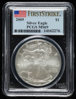 2009 American Silver Eagle $1 One Dollar Coin - First Strike (PCGS MS 69) at PristineAuction.com