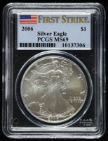 2006 American Silver Eagle $1 One Dollar Coin - First Strike (PCGS MS 69) at PristineAuction.com