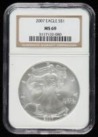 2007 American Silver Eagle $1 One Dollar Coin (NGC MS 69) at PristineAuction.com