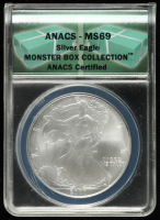 2000 American Silver Eagle $1 One Dollar Coin (ANACS MS 69) at PristineAuction.com