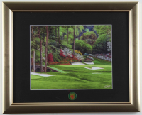 Augusta National 13x16 Custom Framed Textured Art Print Display with Official Masters Lapel Pin at PristineAuction.com
