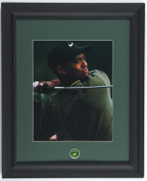 Tiger Woods 13.5x16.5 Custom Framed Photo Display with Masters Pin at PristineAuction.com