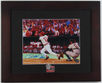 Pete Rose Signed Reds 13.25x16.25 Custom Framed Photo Display with 1976 World Series Champion Pin (Rose Hologram) at PristineAuction.com