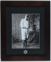 Babe Ruth Yankees 13.5x16.5 Custom Framed Photo Display with Vintage Yankees Bronze Emblem at PristineAuction.com