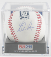Nolan Ryan Signed Astros 50th Anniversary Baseball with Display Case (PSA COA - Graded 10) at PristineAuction.com