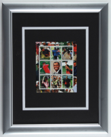 Tiger Woods 13x16 Custom Framed Uncut Full Stamp Sheet Display with (9) Postage Stamps at PristineAuction.com