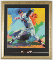 """Tom Seaver"" LeRoy Neiman 16x18 Custom Framed Print Display With Hall Of Fame Plaque Pin at PristineAuction.com"