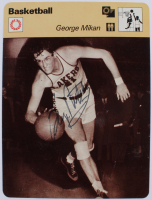 George Mikan Signed 1977-79 Sportscaster Series 54 #5415 (JSA COA) at PristineAuction.com