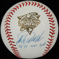 "Jorge Posada Signed Official 2000 World Series Baseball Inscribed ""98 99 2000 3Peat"" (PSA COA) at PristineAuction.com"