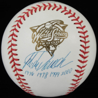 "Jorge Posada Signed Official 2000 World Series Baseball Inscribed ""98 99 2000"" (PSA COA) at PristineAuction.com"
