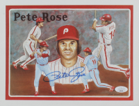 Pete Rose Signed LE Reds 8.5x11 Print (JSA COA) at PristineAuction.com