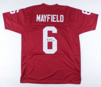 "Baker Mayfield Signed Jersey Inscribed ""'17 H.T."" (Beckett COA) at PristineAuction.com"