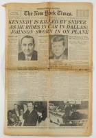 Vintage 1963 John F. Kennedy's Assassination The New York Times Full Newspaper at PristineAuction.com