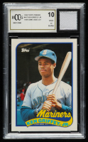 Ken Griffey Jr. 1989 Topps Traded #41T RC with 1989 Game-Used Jersey Piece (BCCG 10) at PristineAuction.com