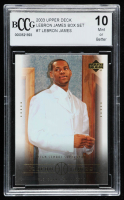 LeBron James 2003 Upper Deck LeBron James Box Set #7 High School Superstar (BCCG 10) at PristineAuction.com