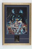 """Star Wars: The Empire Strikes Back"" 15x21.5 Custom Framed Pre Production Art Print Display with 23 KT Gold Card at PristineAuction.com"