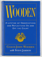 """Coach John Wooden Signed """"Wooden"""" Hardcover Book (PSA COA) at PristineAuction.com"""