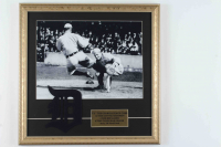 Ty Cobb Signed Tigers 18x18 Custom Framed Display with Tigers Patch at PristineAuction.com