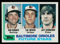 Bob Bonner / Cal Ripken / Jeff Schneider 1982 Topps #21 RC at PristineAuction.com