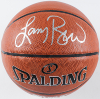 Larry Bird Signed NBA Basketball (PSA COA) at PristineAuction.com