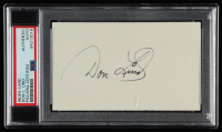 Don Lind Signed 3x5 Index Card (PSA Encapsulated) at PristineAuction.com