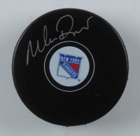 Mike Richter Signed Rangers Logo Hockey Puck (JSA Hologram) at PristineAuction.com