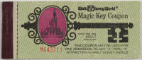 Vintage Walt Disney World Magic Key Coupon Ticket Booklet With (6) Tickets at PristineAuction.com