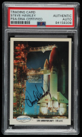 Steven Hawley Signed 1991 Space Shots #153 5th Anniversary - STS 61C Space Card (PSA Encapsulated) at PristineAuction.com