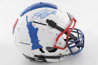 Saquon Barkley Signed Full-Size Authentic On-Field Hydro-Dipped F7 Helmet (Beckett COA) at PristineAuction.com