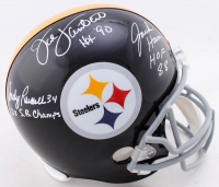 "Jack Lambert, Jack Ham & Andy Russell Signed Steelers Full-Size Helmet Inscribed ""HOF 90"", ""HOF 88"" & ""2x S.B. Champs"" (Beckett COA) at PristineAuction.com"