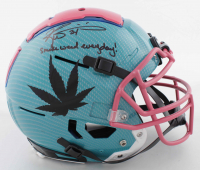 """Ricky Williams Signed Full-Size Authentic On-Field Hydro-Dipped F7 Helmet Inscribed """"Smoke Weed Everyday!"""" (Beckett COA) at PristineAuction.com"""
