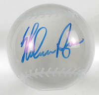Nolan Ryan Signed Glass Paperweight Baseball (PSA COA) at PristineAuction.com