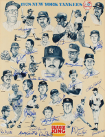 1978 Yankees 17x22 Print Poster Team-Signed by (27) with Reggie Jackson, Goose Gossage, Lou Piniella, Cliff Johnson (JSA COA) at PristineAuction.com