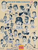 1978 Yankees 17x22 Print Poster Team-Signed by (27) with Reggie Jackson, Goose Gossage, Lou Piniella, Cliff Johnson (JSA Hologram) at PristineAuction.com