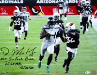 """DK Metcalf Signed Seahawks 16x20 Photo Inscribed """"Not So Fast Budda"""", """"22.64 MPH"""", & """"10/25/20"""" (Beckett COA) at PristineAuction.com"""